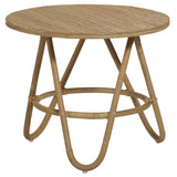 Natural Diabolo | Rattan Side Table | Natural Rattan