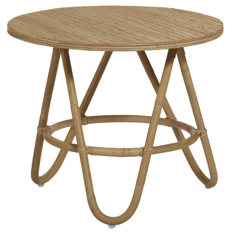 Natural Rattan Diabolo Side Table