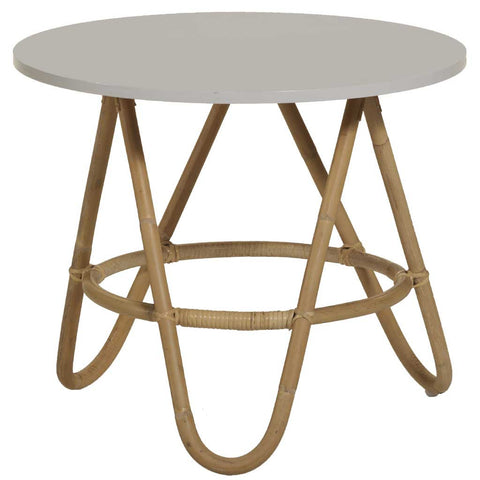 Natural and Grey Rattan Diabolo Side Table