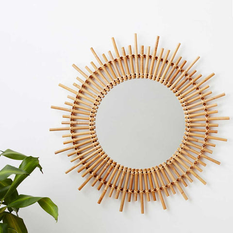 Ives | Large Rattan Mirror | Natural
