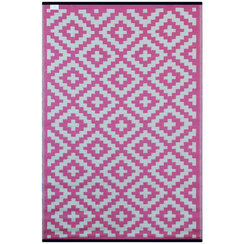 Pink and Cream Nirvana Indoor/Outdoor Rug