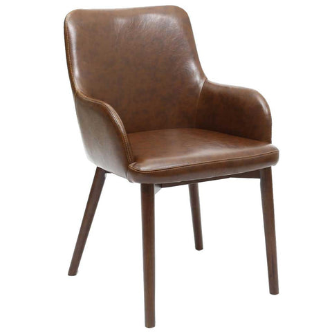 Sidcup Vintage Brown Leather Dining Chair