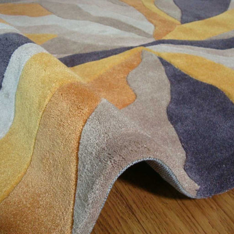 Infinite Splinter Rug in Ochre