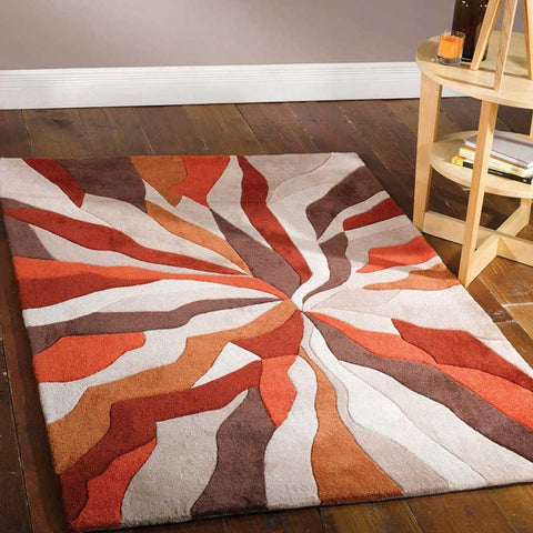 Infinite Splinter Rug in Orange