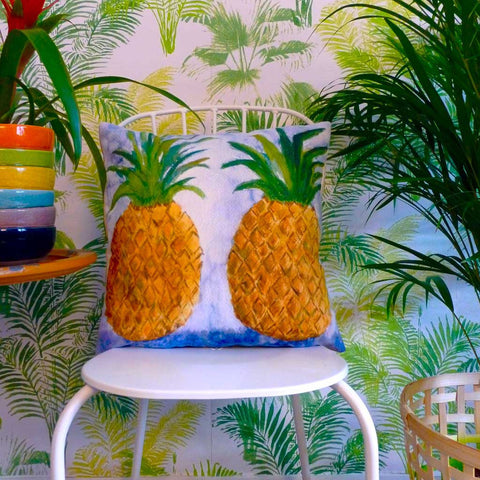Square Vitamine Pineapples Cushion