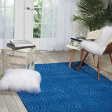 Vita Ripple Blue Hand Tufted Rug