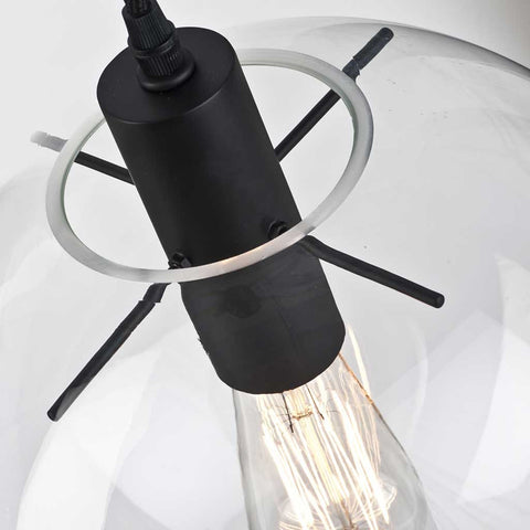 Warsaw Glass Globe Pendant Light