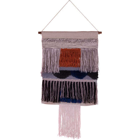 Vina Wool Jute and Silk Wall Hanging