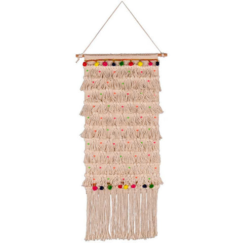 Volta Wool Jute and Silk Tall Wall Hanging