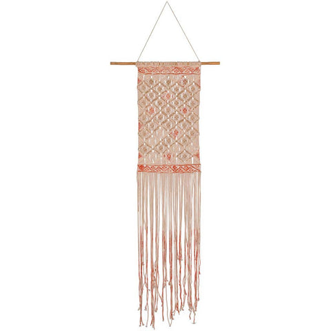 Dori Red and Gold Macrame Wall Hanging