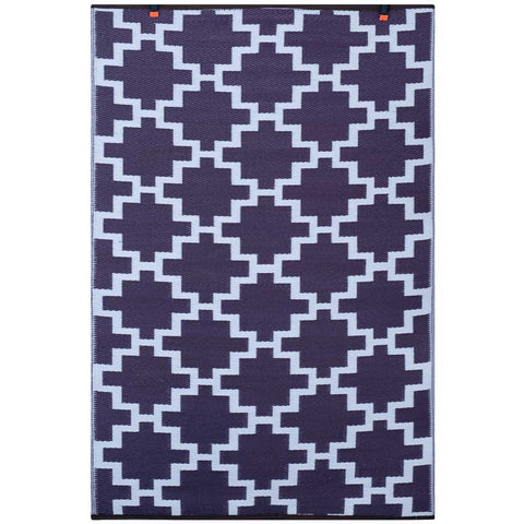 Italian Plum and White Solitude Indoor/Outdoor Rug