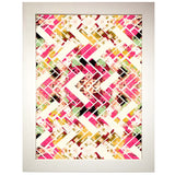 Wild Herringbone In Pink Art Print
