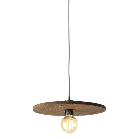 Dark Brown Algarve Cork Pendant Light