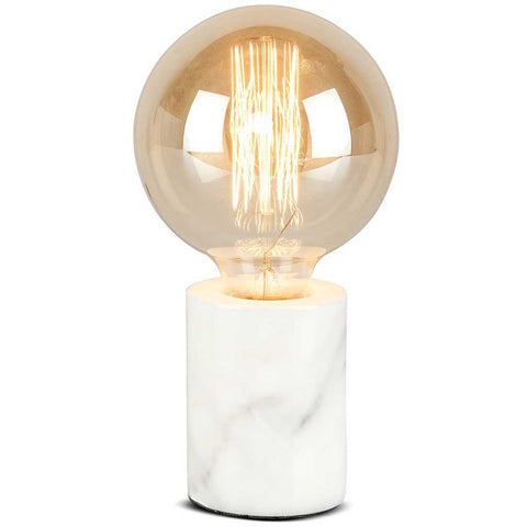 Athens White Marble Table Lamp