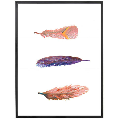 Ava | Swirling Feathers Painting | Boho | Art Print