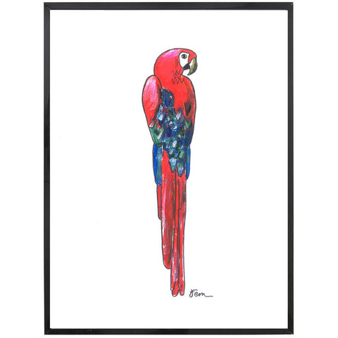 Polly | Parrot Painting | Tropical | Art Print