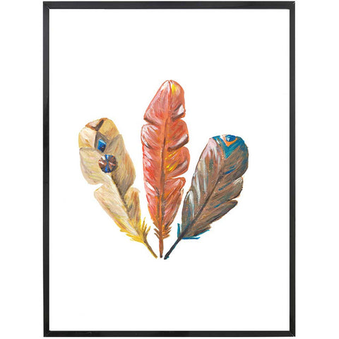 Ava | Feather Headdress Painting | Boho | Art Print