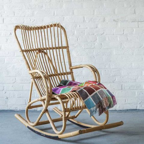 Clarabelle | Rocking Rattan Chair | Natural Rattan