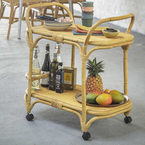 Clarabelle | Rattan Drinks Trolley