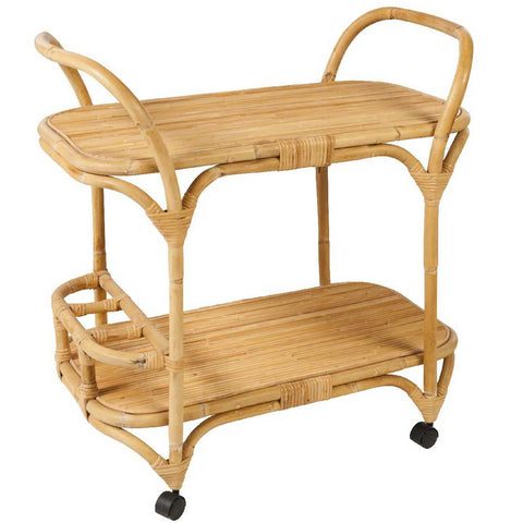 Natural Rattan Drinks Trolley