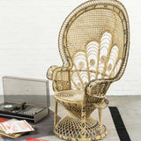 Peacock Emmanuelle Armchair in Natural Rattan