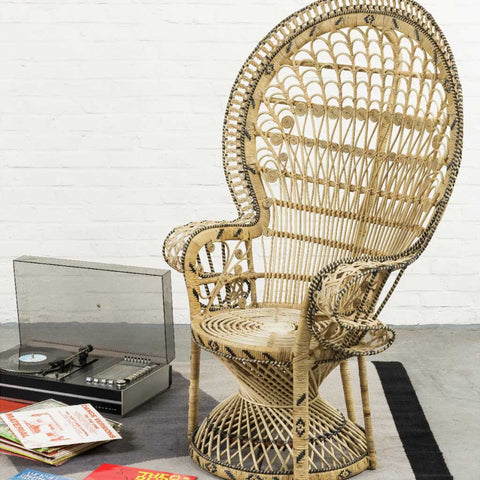 Pomaré Emmanuelle Armchair in Natural Rattan