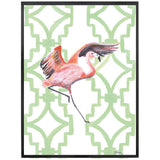 Miranda | Flamingo Painting | Pink and Green | Art Print