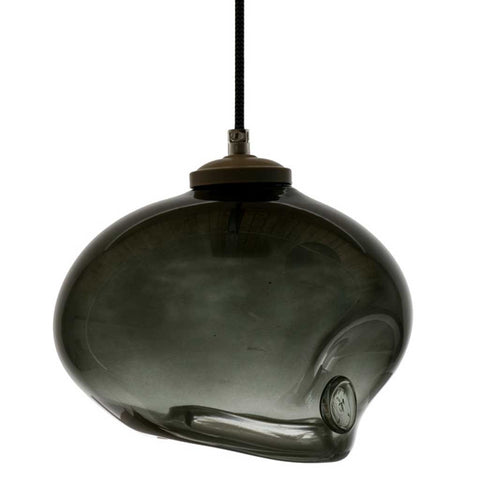 Black Handmade Glass Pendant Light