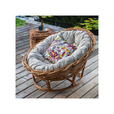 Rattan outdoor lounge chair