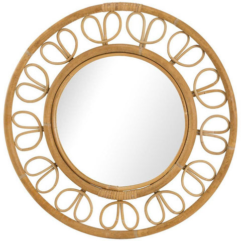Ives | Rattan Saturn Mirror