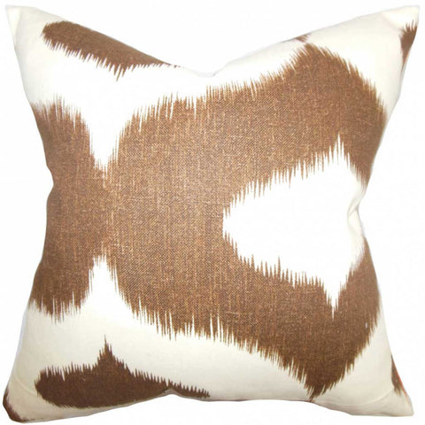Leilani Ikat Cushion Cover in Brown