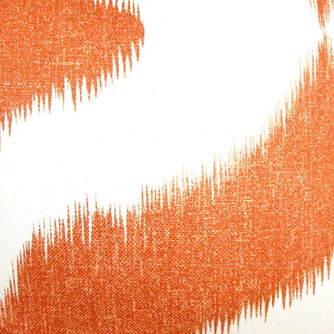 Leilani Ikat Cushion Cover in Bright Orange