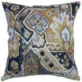 Adarna Floral Cushion Cover in Gold Onyx