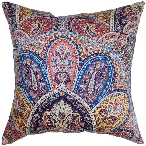 Lehana Paisley Cushion Cover in Blue