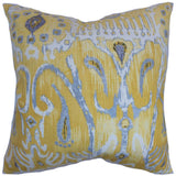 Haestingas Ikat Cushion Cover in Yellow