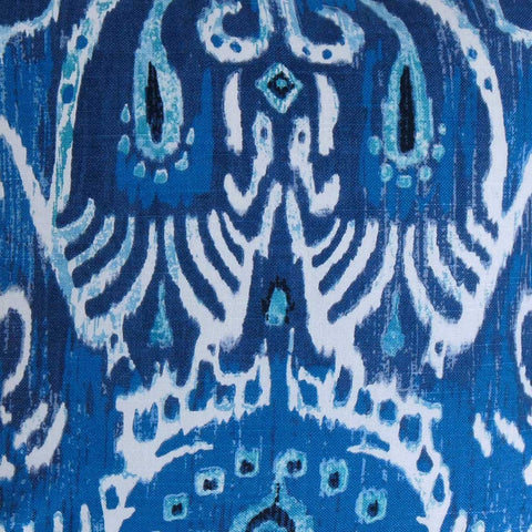 Haestingas Ikat Cushion Cover in Navy Blue