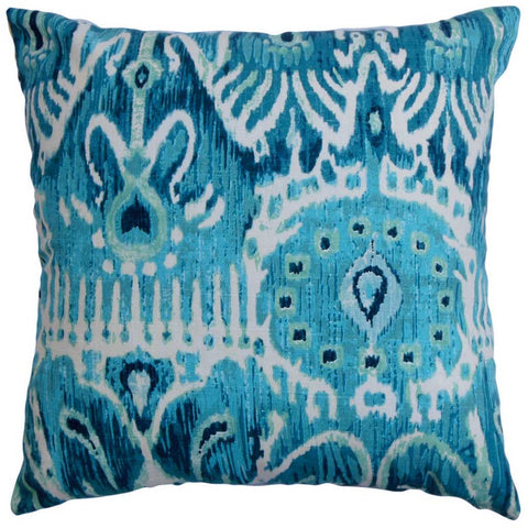 Haestingas Ikat Cushion Cover in Blue