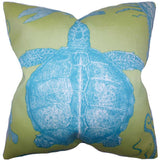 Aeliena Coastal Cushion Cover in Lime