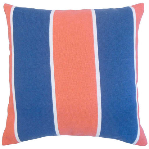 Hagan Geometric Cushion Cover in Navy Blue and Orange