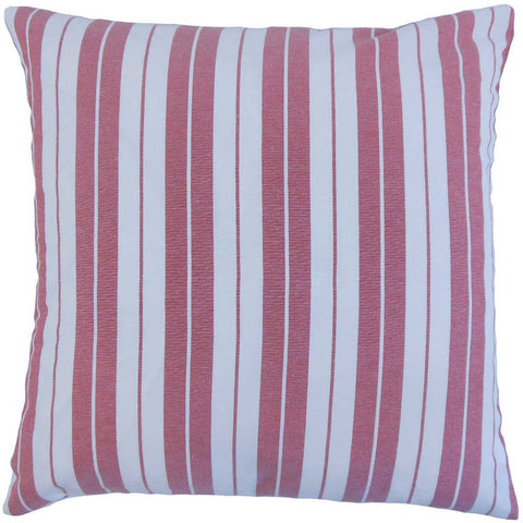 Henley Stripes Cushion Cover in Red