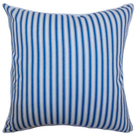 Xander Stripes Cushion Cover in Blue
