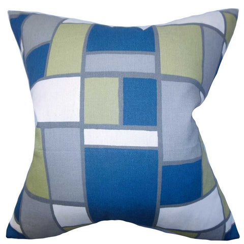 Bronwen Geometric Cushion Cover in Blue