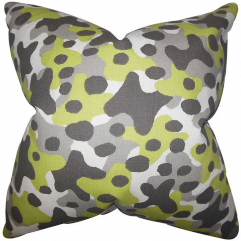 Dabney Geometric Cushion Cover in Grey