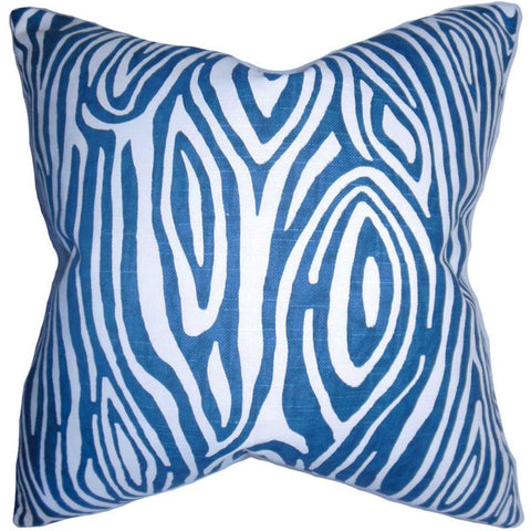 Thirza Swirls Cushion Cover in Blue