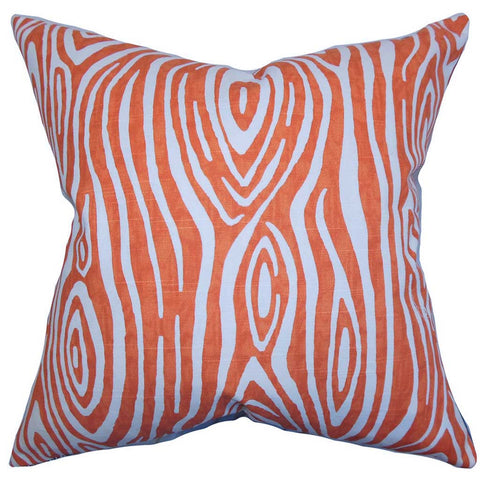 Thirza Swirls Cushion Cover in Tangerine Red