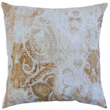 Havilah Floral Cushion Cover in Amber