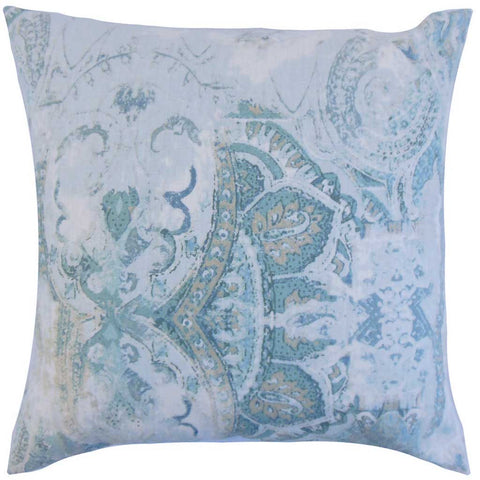 Havilah Floral Cushion Cover in Dreamy Blue