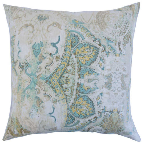 Havilah Floral Cushion Cover in Seahorse Green