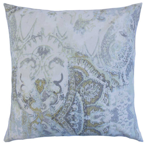 Havilah Floral Cushion Cover in Vineyard Green