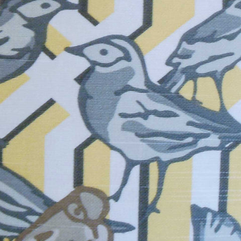 Bela Aviary Cushion Cover in Yellow